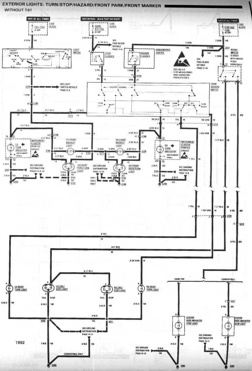 1992 Chevy S10 Wiring Diagram Great Design Of 89 Fuel Pump Third Gen Camaro Light Switch Free 92 Diagrams