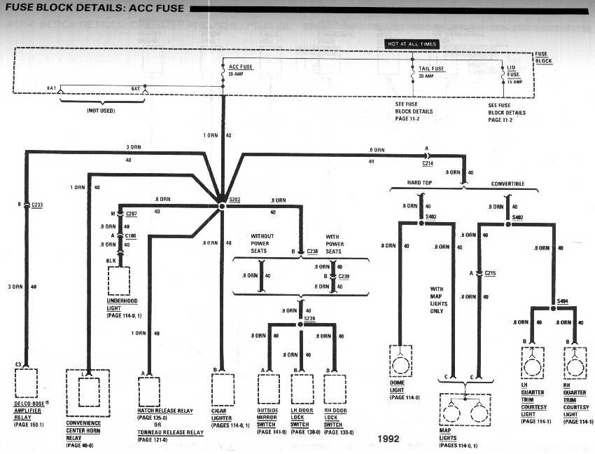 diagram_1992_fuse_block_details_ACC_fuse 1992 camaro wiring diagram 91 camaro fuel pump relay wiring 91 camaro fuel pump wiring diagram at fashall.co