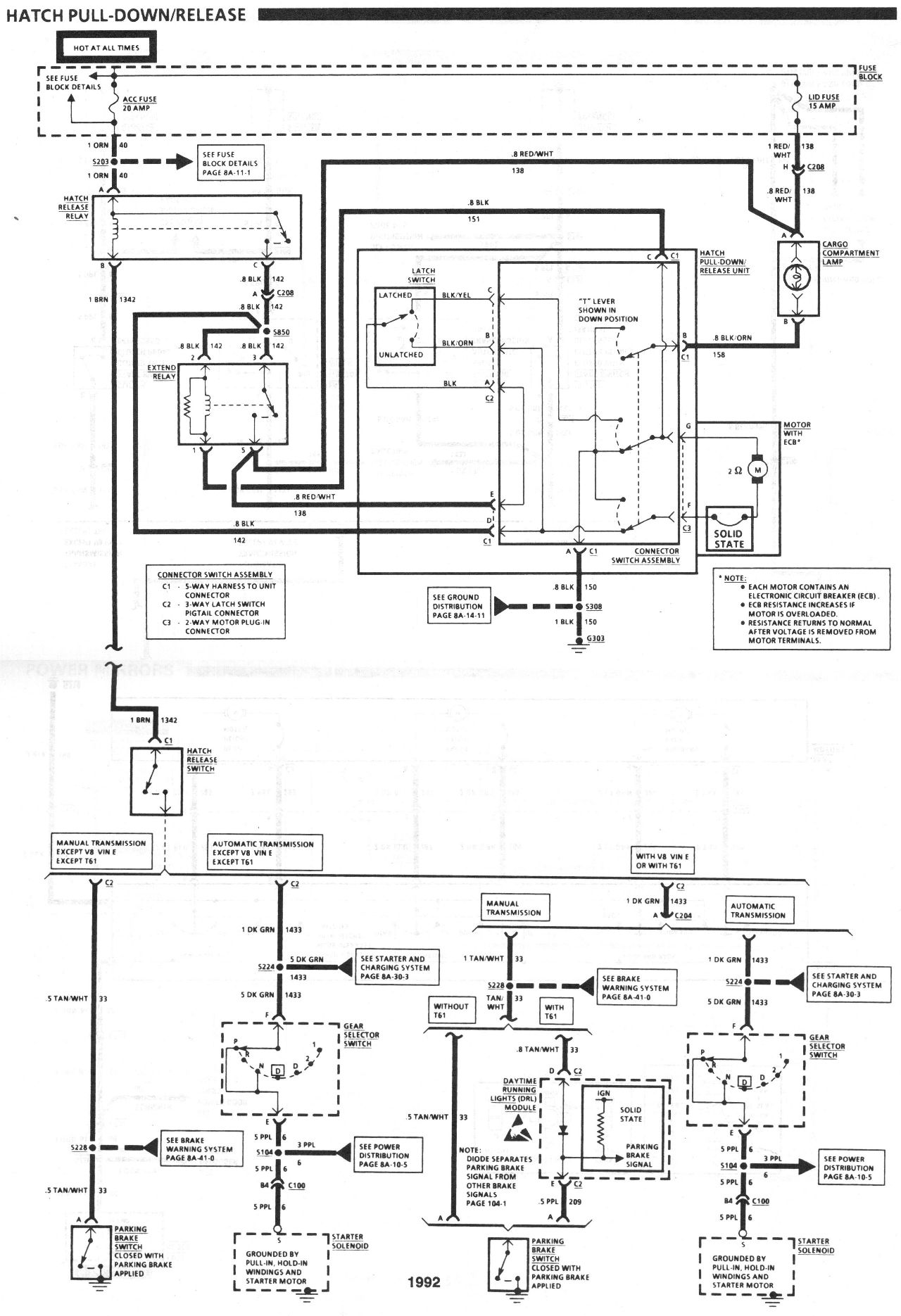 diagram_1992_hatch_pull_down_release 87 iroc no power at the fuse block for \