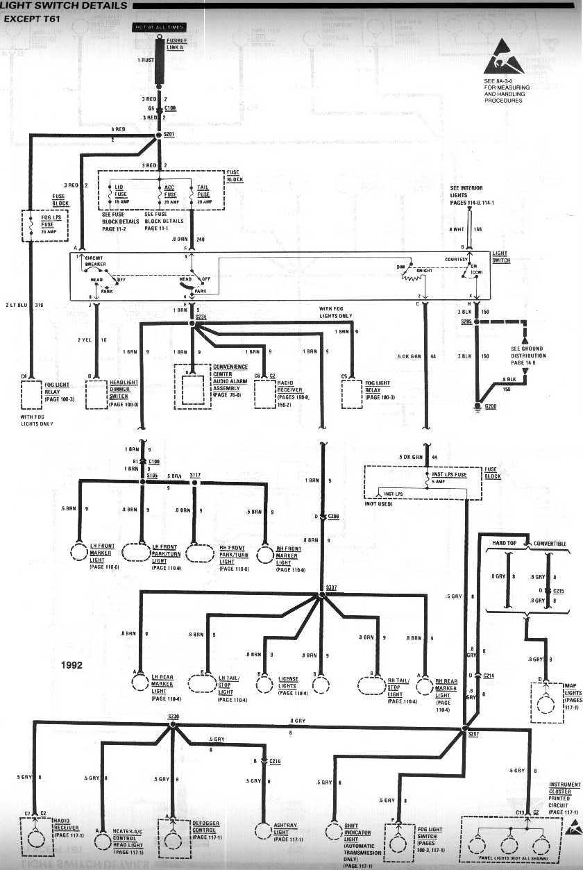 diagram_1992_lightswitch_exceptT61 headlight wiring how do i wire my headlights to a toggle switch S10 Wiring Diagram for Gauges at panicattacktreatment.co