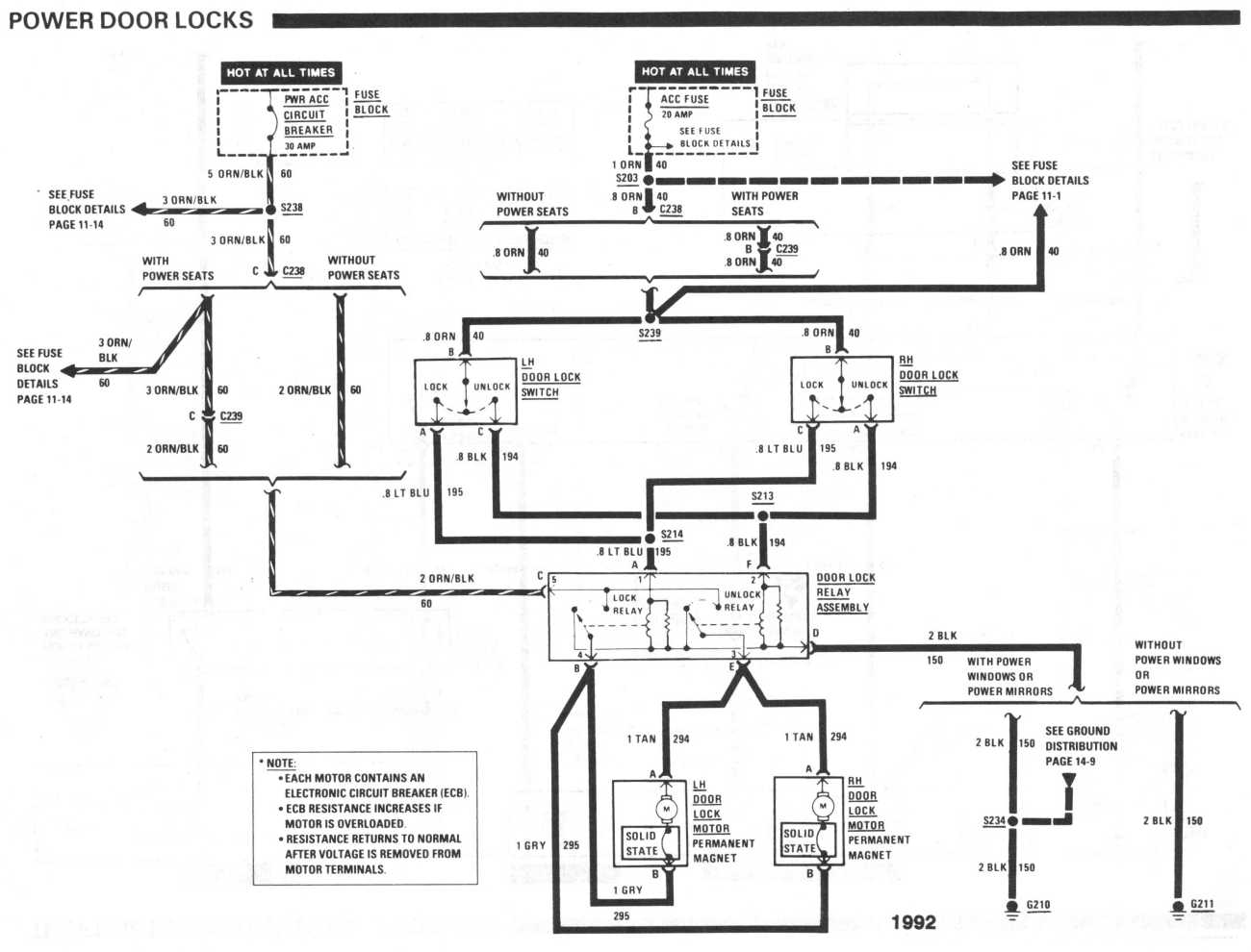 Door Lock Wiring Diagram 1992 Buick Century Library 92 Power Locks Not Working At All Third Generation F Body Rh Thirdgen Org