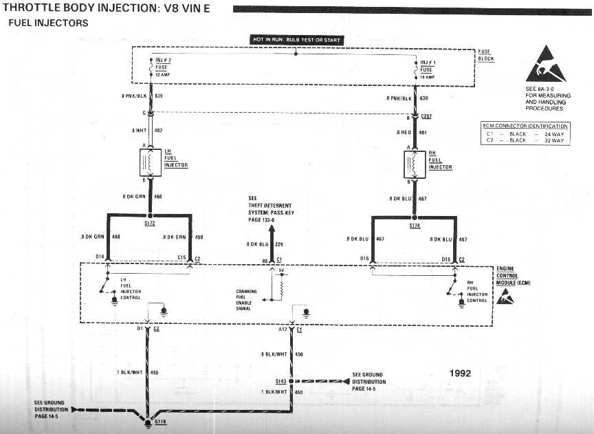 diagram_1992_throttle_body_injection_V8_vinE_fuel_injectors wiring harness adaptation third generation f body message boards lt1 maf wiring diagram at love-stories.co