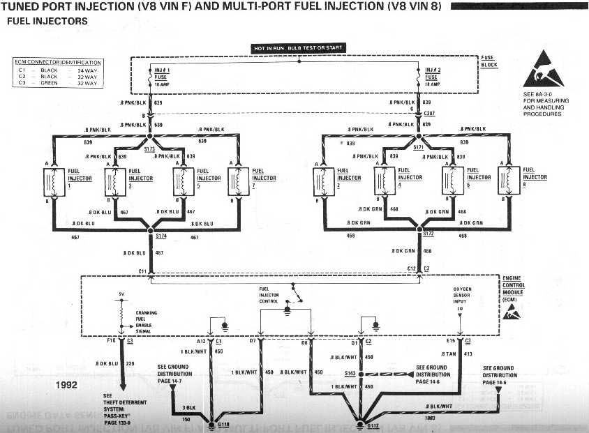diagram_1992_tuned_port_injection_V8_vinF_and_vin8_fuel_injectors wiring harness adaptation third generation f body message boards 350 tpi wiring harness at creativeand.co