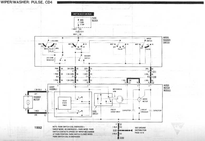 diagram_1992_wiper_washer_pulse_CD4 wiring diagram for a 89 wiper motor third generation f body 1986 chevy truck wiper motor wiring diagram at panicattacktreatment.co